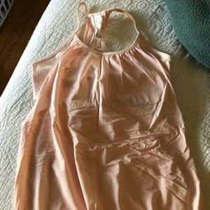 Baby pink lululemon CYB tank mesh with bra